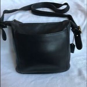 Vintage Black Leather COACH Convertible Crossbody